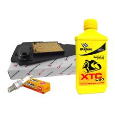 Kit tagliando Bardahl XTC C60 10W30 filtro aria candela Honda NSS Forza 250 X