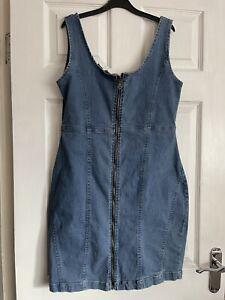 Ladies Lovely Denim Summer Holiday Dress Size 16