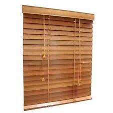 Medium Wood Tone Venetian Blinds