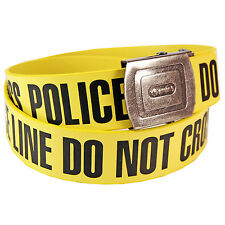 Police Do Not Cross Belt - Warning Tape Style Novelty Fashion Item