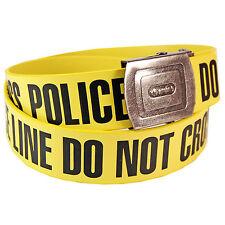 La policía no cinturón de Cruz-Advertencia Cinta Estilo Novedad artículo de moda
