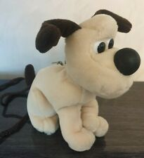 Vintage Wallace and Gromit Neck Purse Plush Bag Coin Purse Gift Dog Small