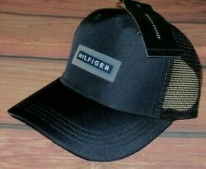 MENS TOMMY HILFIGER NAVY BLUE HAT SNAPBACK ADJUSTABLE CAP ONE SIZE