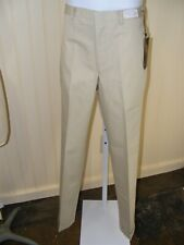 60s Mens Trousers 30X30 Koratron Slacks Deadstock Beige Tapered Leg Chino Style