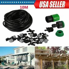 New ListingGarden Patio Water Misting Cooling System Sprinkler Nozzle Micro Irrigation Set