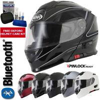 V-CAN V271 BLUETOOTH FLIP FRONT FULL FACE MOTORCYCLE MOTORBIKE HELMET MP3 SATNAV
