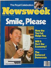 Newsweek 1981 Ronald Reagan Princess Diana Wedding G. Heileman Brewing Company