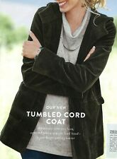 J.Jill Hooded Tumbled Cord Coat   3X   NWT  $169  GREEN