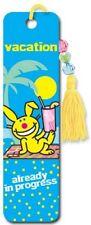 its happy bunny vacation Collectors Beaded Bookmark