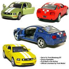 "Set of 4: 2006 Ford Mustang GT (5"" die-cast model car)"