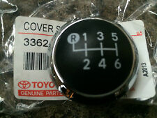 GENUINE TOYOTA AVENSIS 2010 GEAR KNOB CHROME CAP TOP ONLY 6 SPEED 2010