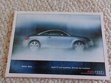 RARE Original 1999 Audi TT Promotional Postcard Unused Hamburg, Specs, FS