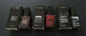 Lot of 3 AVON Nailwear Pro + Nail Enamel Matte Nail Polish + Mosaic Effects