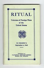 Ritual Vfw of the United States Amended to September 4, 1942 Ww2 Era