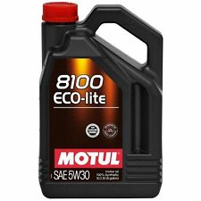 MOTUL 8100 ECO-LITE 5W30 SYNTHETIC OIL GAS & DIESEL LUBRICANT-  5.28 QUARTS - 5L
