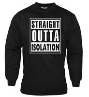 Social Distancing Sweatshirt Isolation Funny T-Shirt Mens Lockdown Stay Safe