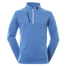 FootJoy Mens Heather Pinstripe Golf Chill Out Pullover 92480 Cobalt/White Medium