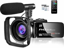 Video Camera 1080P Camcorder IR Night Vision HD 30FPS 24MP YouTube Vlogging