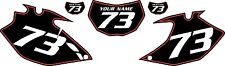 2007-2011 Yamaha WR450F Pre-Printed Black Backgrounds with Red Pinstripe