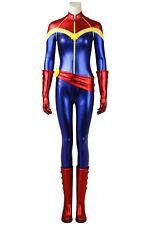Captain Marvel Carol Danvers Jumpsuit Full Set Cosplay Costume Halloween