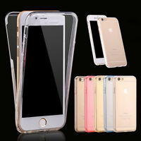 Shockproof 360° Silicone Protective Clear Gel Case Cover For iPhone SE 5  6 7 8+