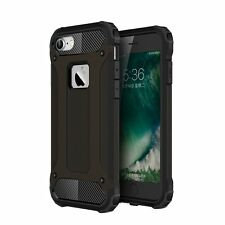 iPhone 7 Tough Case 2 Layer X-Armor Shell Hard Back Cover - Black