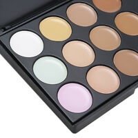 15 Color Concealer Palette#1 Kit With Brush Face Makeup Contour Cream Neutral FG