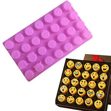 Emoji Funny Silicone Moule Gâteau Chocolat Bonbon Glace Biscuit Savon Cuisine NF