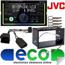 VW T5 Transporter JVC Double Din Bluetooth CD MP3 Car Stereo & SWC Fitting Kit