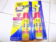 Lot of 2 Banana Boat Kids Face Sunscreen Stick UVA/UVB SPF 50