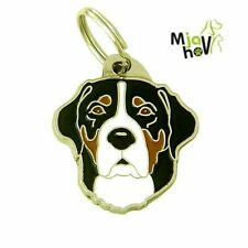 Dog name ID Tag, Greater Swiss Mountain Dog, Engraved, Personalized, Handmade