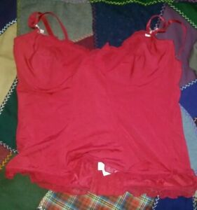 Red Bustier Camisole 36C