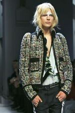 Balenciaga Boucle Tweed Jacket Iconic Fall 2007 Runway Nicolas Ghesquiere 42
