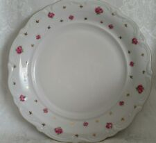 "WINTERLING CHINA HERITAGE ROUND  PLATTER 12""  MINT ROSES&GOLD BAVARIA"