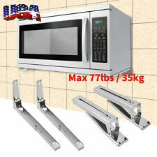 1Pair Microwave Oven Bracket Foldable Stretch Wall Mount Rack Shelf Sturdy Stand