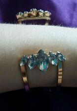 Pulsera brazalete de color oro encantadoras damas con brillante diamante piedras 'H & M