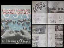L'ARCHITECTURE D'AUJOURD'HUI 1947 USA, URBANISME, HABITATION, JOHNSON GROPIUS