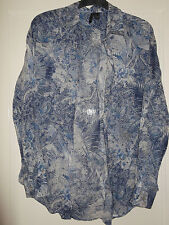 MNG Collection Mango blue and white floaty shirt size xs