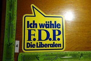 Alter Aufkleber Politik Partei Europa FDP (FG)