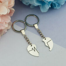 Stainless Steel Lovers' Keyring Couple Key Chains Keyring Heart