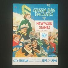 Vintage 1962 New York Giants vs. Green Bay Packers Game Program - City Stadium