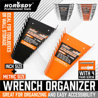 26 Slot Wrench Organizer Holder Metal Tool Box Storage Sockets Trays Rail Rack
