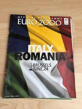 Euro 2000 Italy v Romania-June 24th