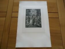 RARE 49X32 GRAVURE BENOIST D'APRES RUBENS MARIAGE DE MARIE DE MEDICIS HENRI IV