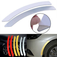 Car Wheel Eyebrow Reflective Stickers Safety Warning Tape Trim Lips Side Silver