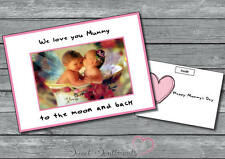 Personalised Mothers Nanny Day Card Your Photo Cute Funny  Moon And Back
