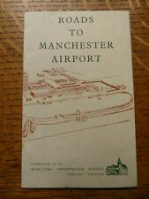 Rare! Manchester Airport Roads Map 1938/9 & plan of Airport