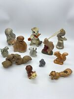 Lot of 12 Vintage Various Small Squirrel Figurines All Have Defect See Details