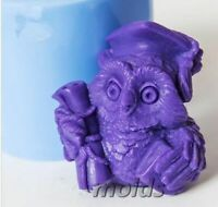 Candles Making Animal Mould Diy Craft Molds Owl 3D Silicone Mold For Soap