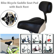 1PC Wide Comfortable Tricycle Mountain Bike Bicycle Saddle Seat Pad w/ Back Rest